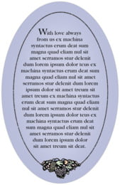 Cornucopia oval text labels