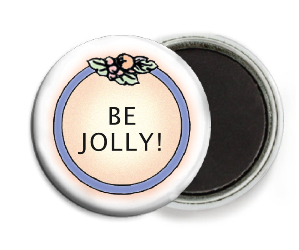 custom button magnets - ivory - cornucopia (set of 6)