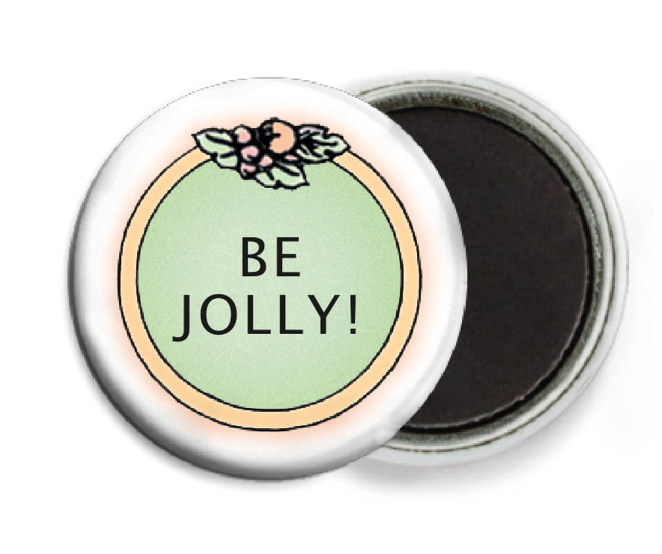 custom button magnets - green - cornucopia (set of 6)