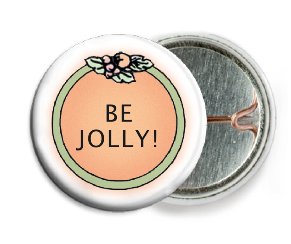 custom pin back buttons - melon - cornucopia (set of 6)