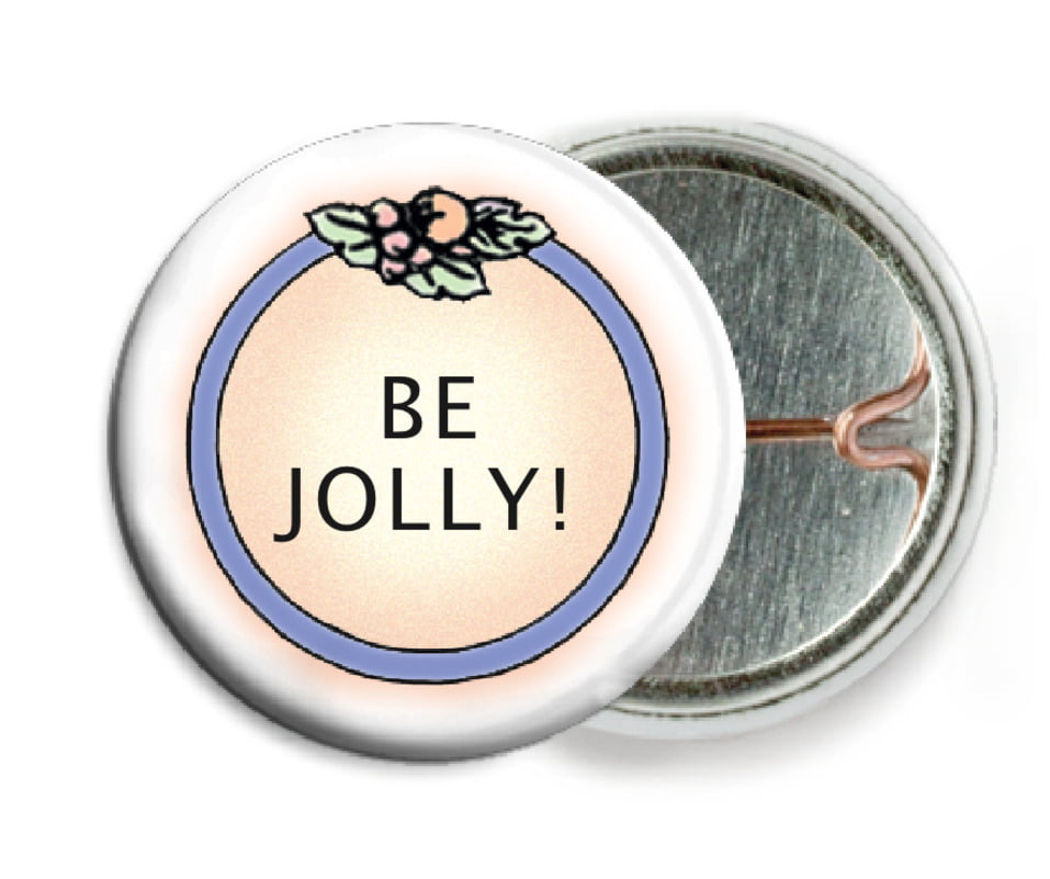 custom pin back buttons - ivory - cornucopia (set of 6)
