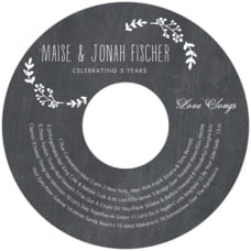 Chalkboard anniversary CD/DVD labels