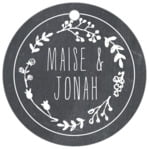 Chalkboard circle hang tags