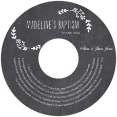 Chalkboard cd labels