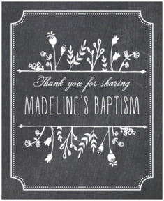 Chalkboard large labels