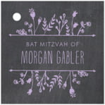 Chalkboard square hang tags