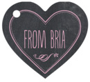 Chalkboard heart hang tags