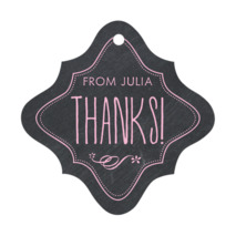 Chalkboard bridal shower tags