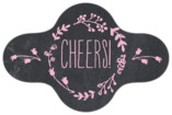 Chalkboard bottle collar labels