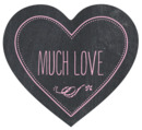 Chalkboard heart labels