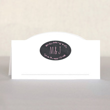 Chalkboard Place Card In Pale Pink