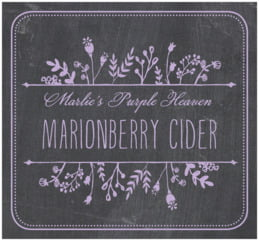 Chalkboard Large Rectangle Label In Lilac