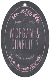 Chalkboard large oval hang tags