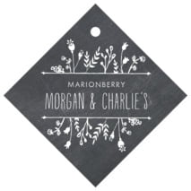 Chalkboard diamond hang tags