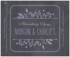 Chalkboard large wide labels