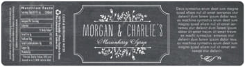 Chalkboard bottled water labels