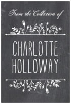 Chalkboard Rectangle Book Label In Tuxedo