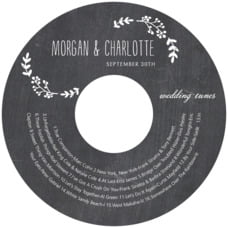 Chalkboard wedding CD/DVD labels