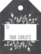 Chalkboard Small Luggage Gift Tag In Tuxedo