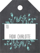 Chalkboard small luggage gift tags