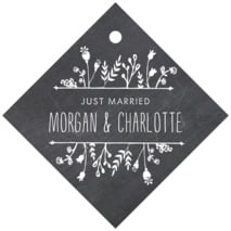 Chalkboard Diamond Hang Tag In Tuxedo