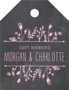 Chalkboard small luggage tags