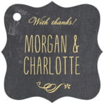 Chalkboard fancy square tags