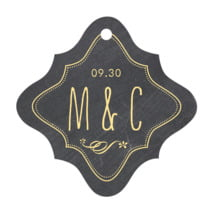 Chalkboard fancy diamond hang tags