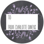 Chalkboard small circle gift labels