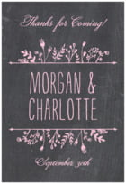 Chalkboard Tall Rectangle Label In Pale Pink