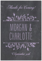Chalkboard tall rectangle labels