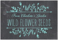 Chalkboard wide rectangle labels