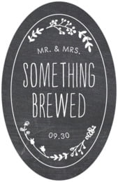 Chalkboard Tall Oval Label In Tuxedo
