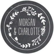 Chalkboard wedding labels