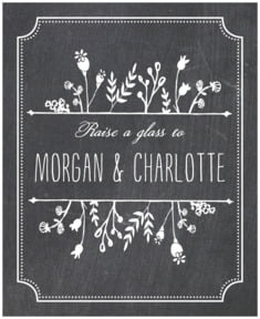 Chalkboard Large Label In Tuxedo