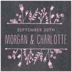 Chalkboard square labels