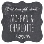 Chalkboard fancy square labels