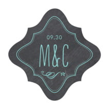Chalkboard fancy diamond labels