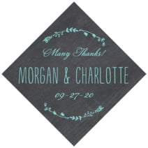 Chalkboard diamond labels