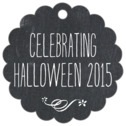 Chalkboard scallop hang tags