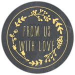 Chalkboard circle labels