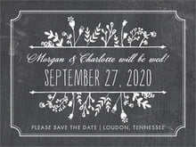 custom save-the-date cards - tuxedo - chalkboard (set of 10)