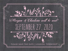 custom save-the-date cards - pale pink - chalkboard (set of 10)