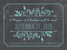 custom save-the-date cards - aruba - chalkboard (set of 10)
