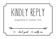 custom response cards - tuxedo - chalkboard (set of 10)