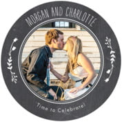 'Chalkboard Round Coaster In Tuxedo' from the web at 'https://cdn.evermine.com/images/CQ/styles/COCQ22-33_style.jpg'