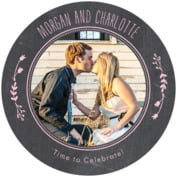 Chalkboard bridal shower coasters