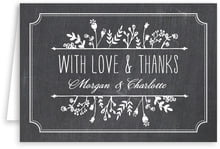 Chalkboard wedding thank you cards