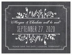 Chalkboard Save The Date Card In Tuxedo