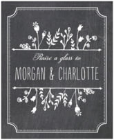 Chalkboard wedding wine labels